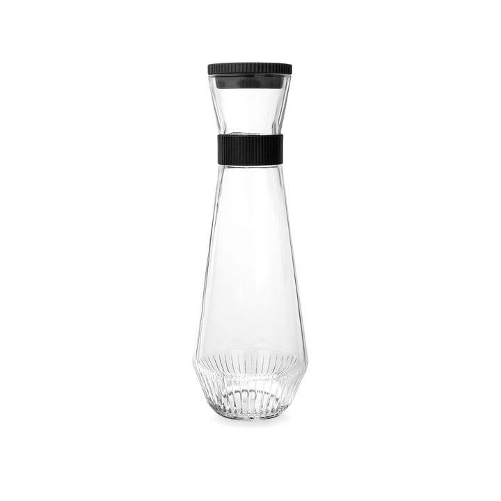 Water carafe, 0.9 l by Rosendahl in transparent / black