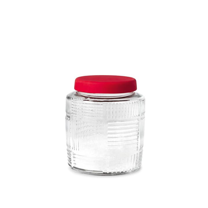 Nanna Ditzel Storage Jar 0.9 l by Rosendahl with red lid