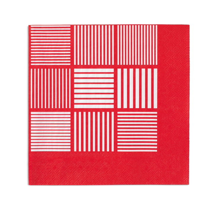 Nanna Ditzel Paper Napkins 20 pcs. 40 x 40 cm by Rosendahl in red / white