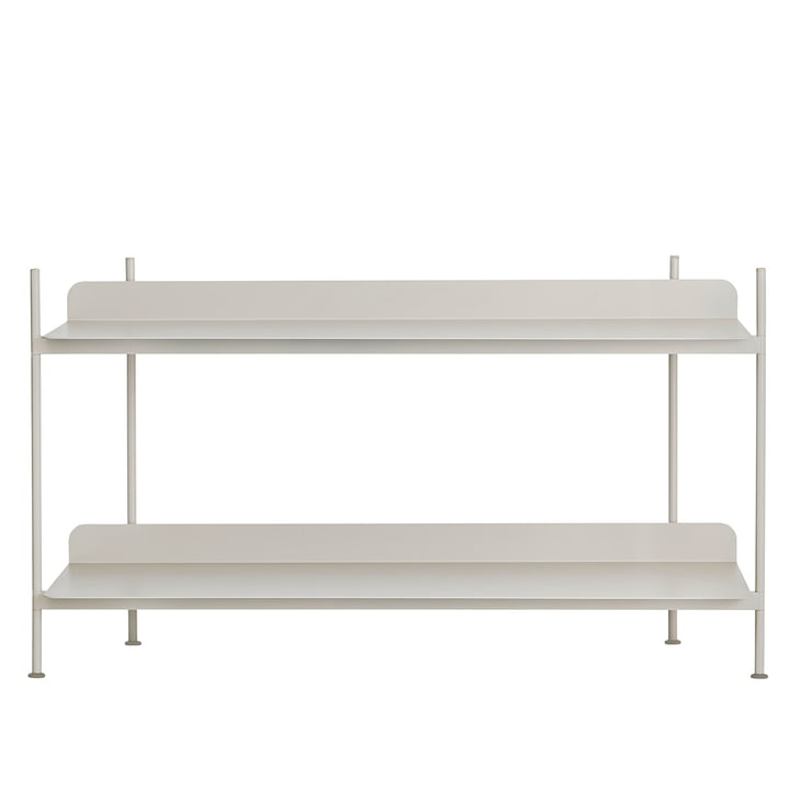 Compile Shelving System (Config. 1) by Muuto in grey