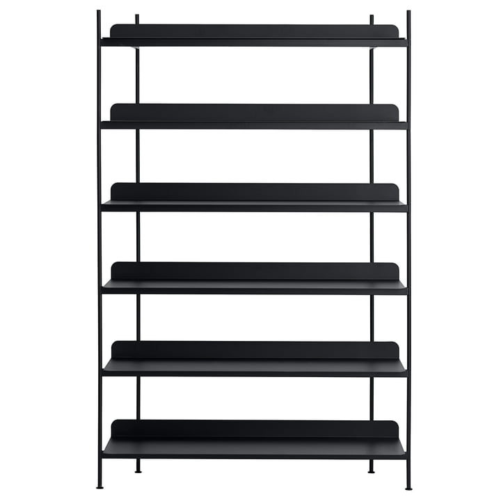 Compile Shelving System (Config. 4) by Muuto in black