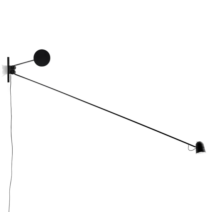The Counterbalance Wall Lamp by Luceplan in Black