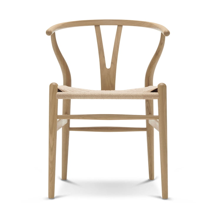 CH24 Wishbone Chair by Carl Hansen soaped in oak / natural wickerwork