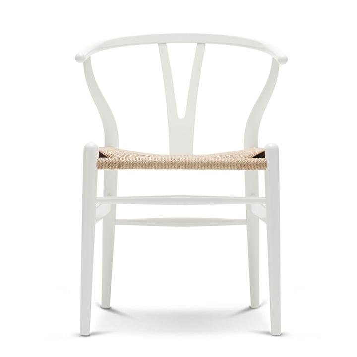 CH24 Wishbone Chair by Carl Hansen in beech white / natural weave
