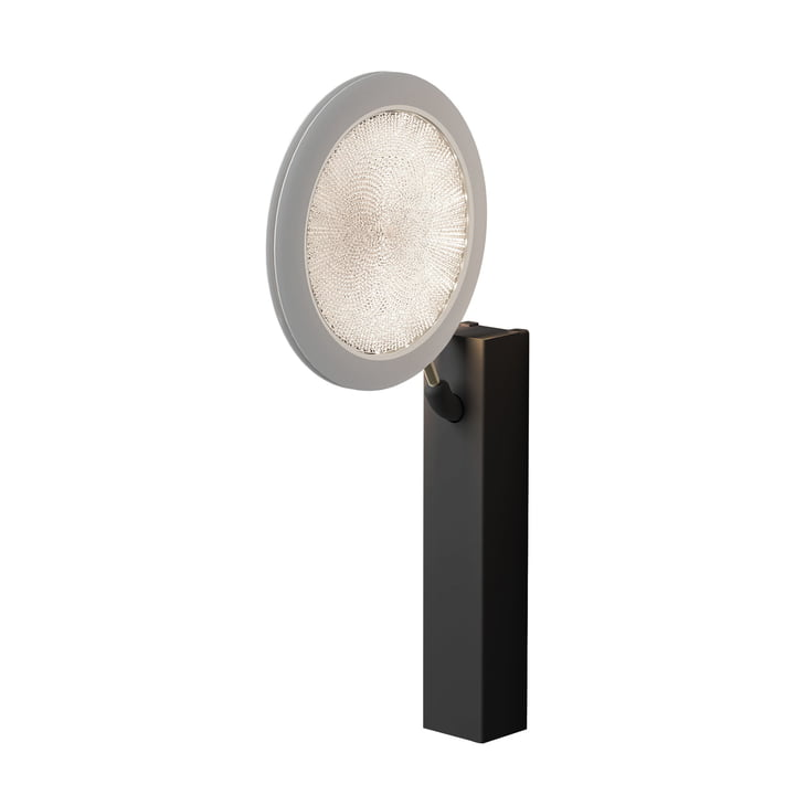 Fly-Too Wall Lamp by Luceplan in Black Matt / Aged White