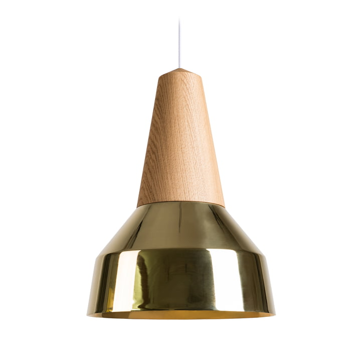 The Schneid - Eikon Ray Pendant Lamp in oak / brass