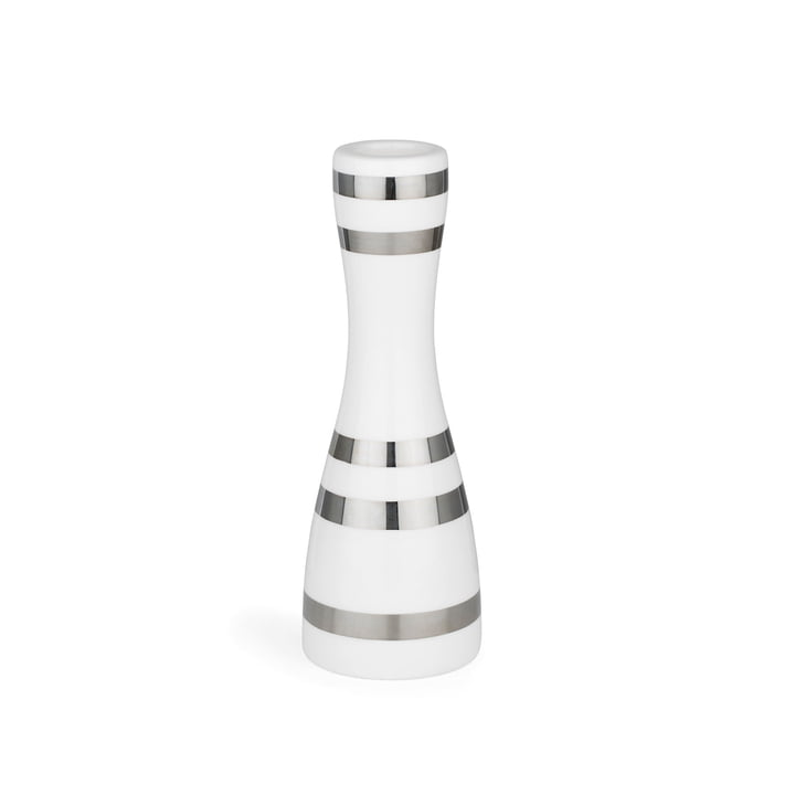 Omaggio Candleholder 16 cm by Kähler Design in silver