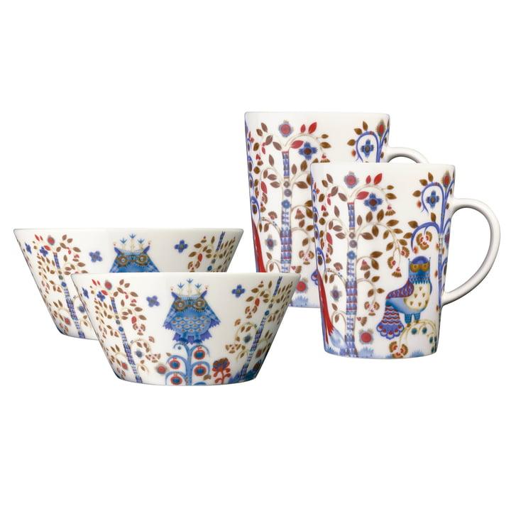 Iittala - Taika white, Mug & Bowl Set (4 pcs.)