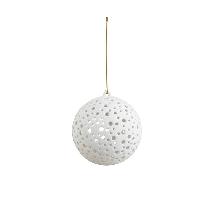 Hanging Nobili tea light holder ball Ø 12 cm by Kähler Design