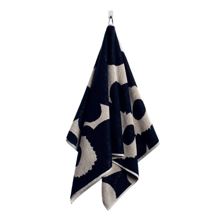 Marimekko - Unikko Hand Towel 50 x 100 cm, black / sand