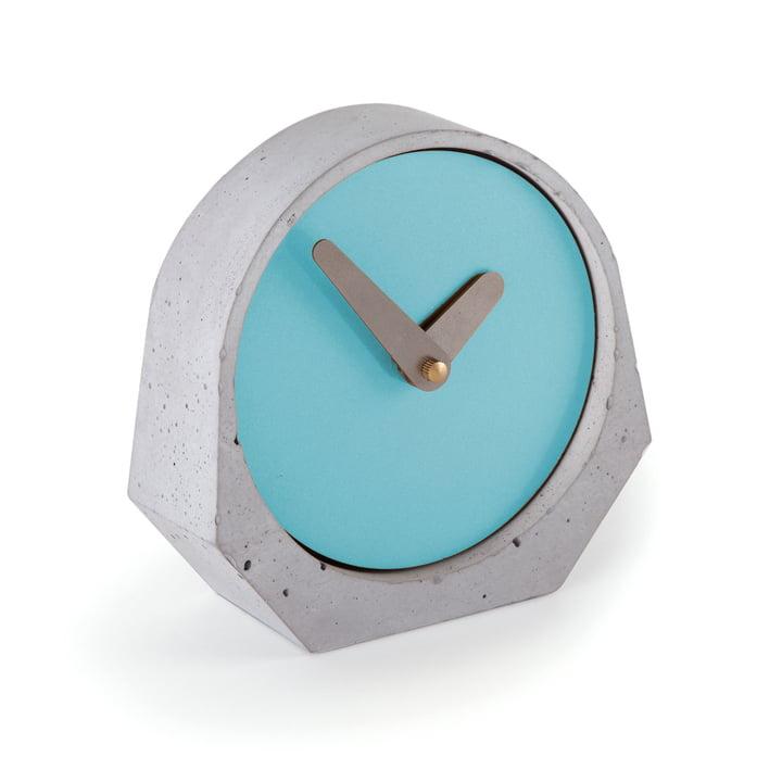 Konstantin Slawinski - Theda Table Clock in Pastel Turquoise