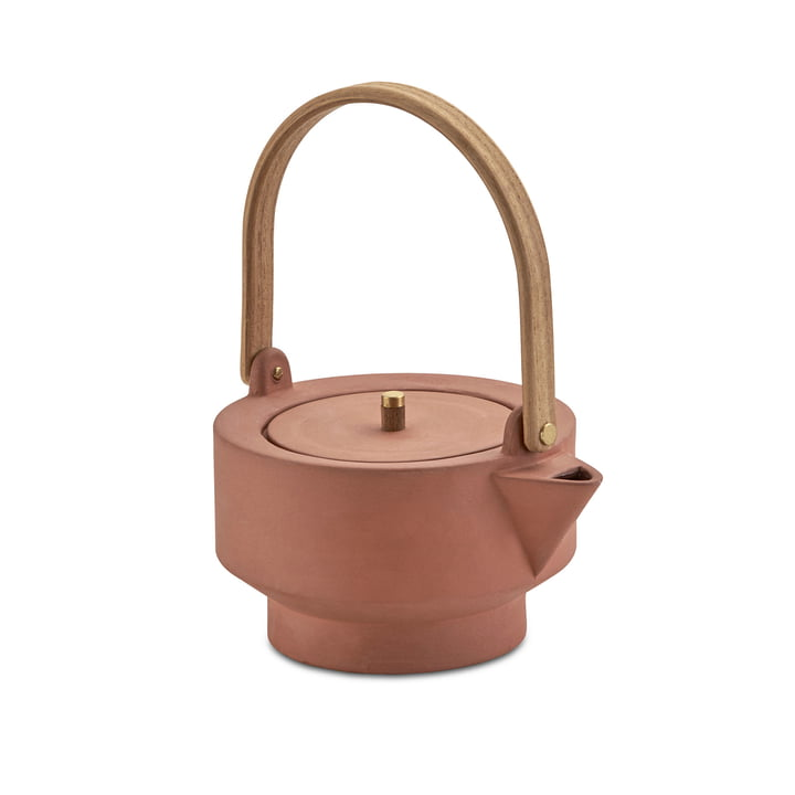Edge Teapot by Skagerak in Terracotta