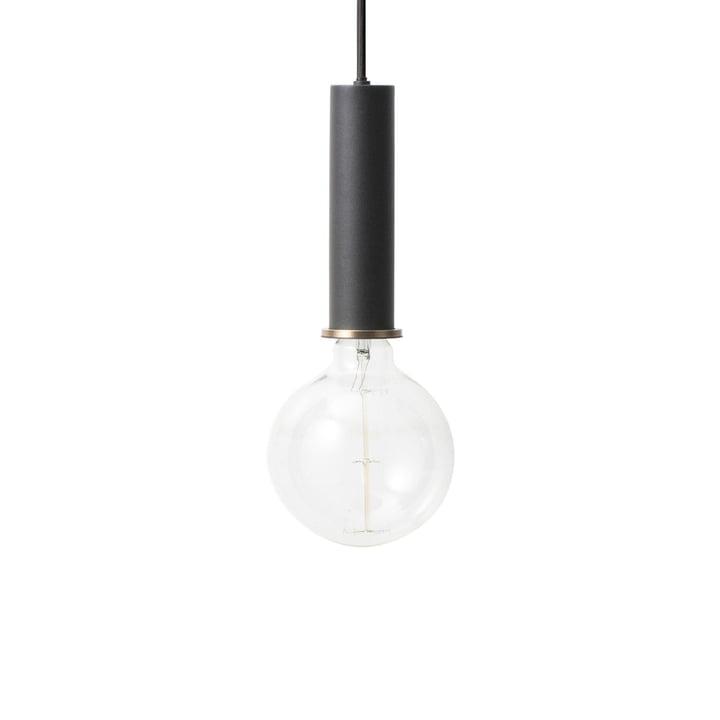 The ferm Living - Socket pendant luminaire High in black