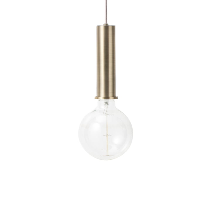 The ferm Living - Socket pendant luminaire High in brass