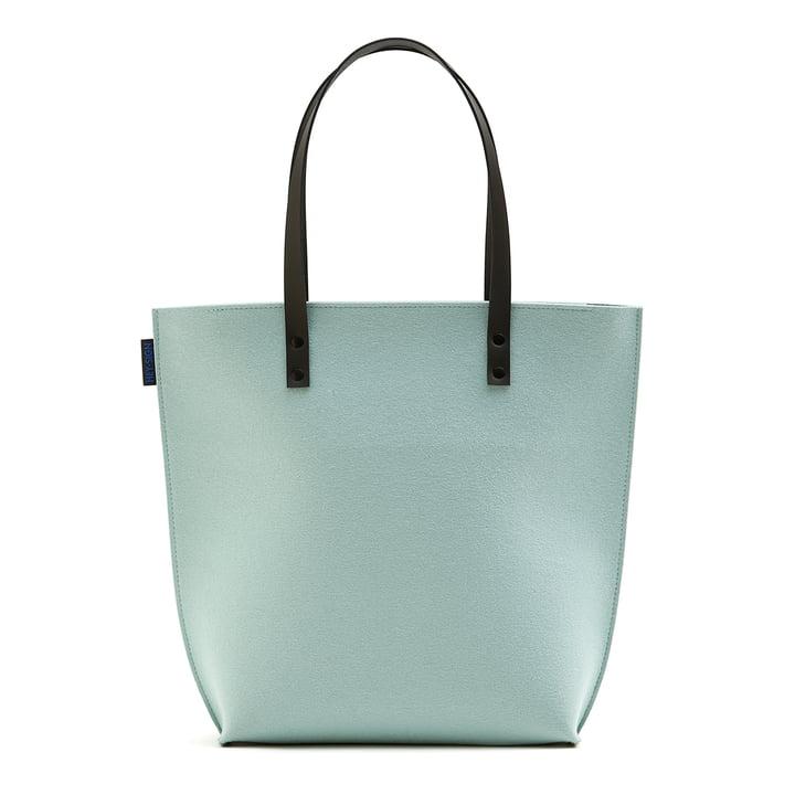 The Hey Sign - Prag Felt Bag in Aqua