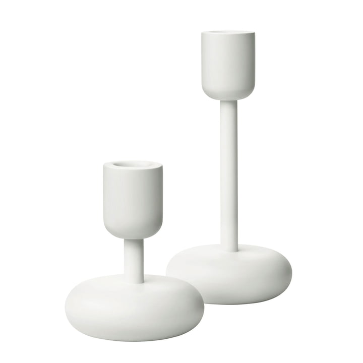 Iittala - Nappula Candle Holder, 274 & 263 mm (Set of 2), white