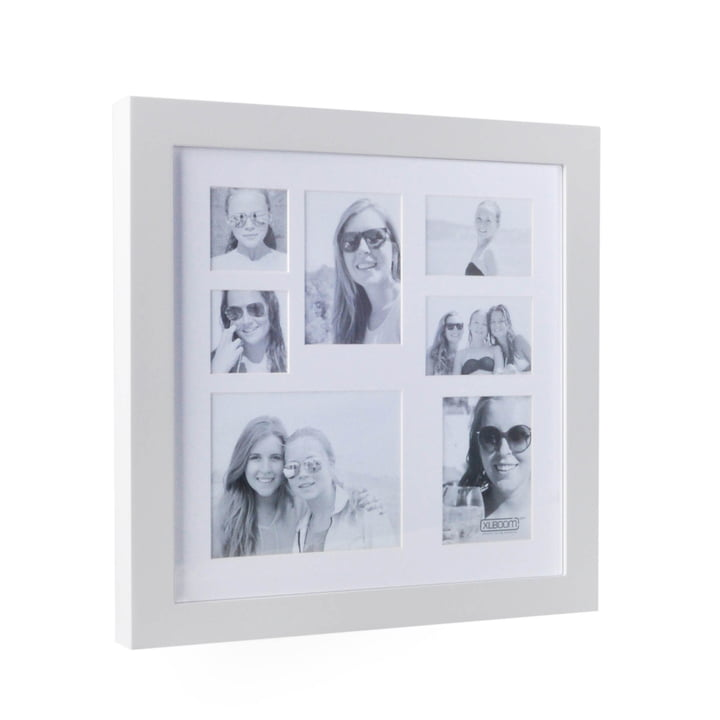 Multi Photo frame for 7 pictures from XLBoom in white