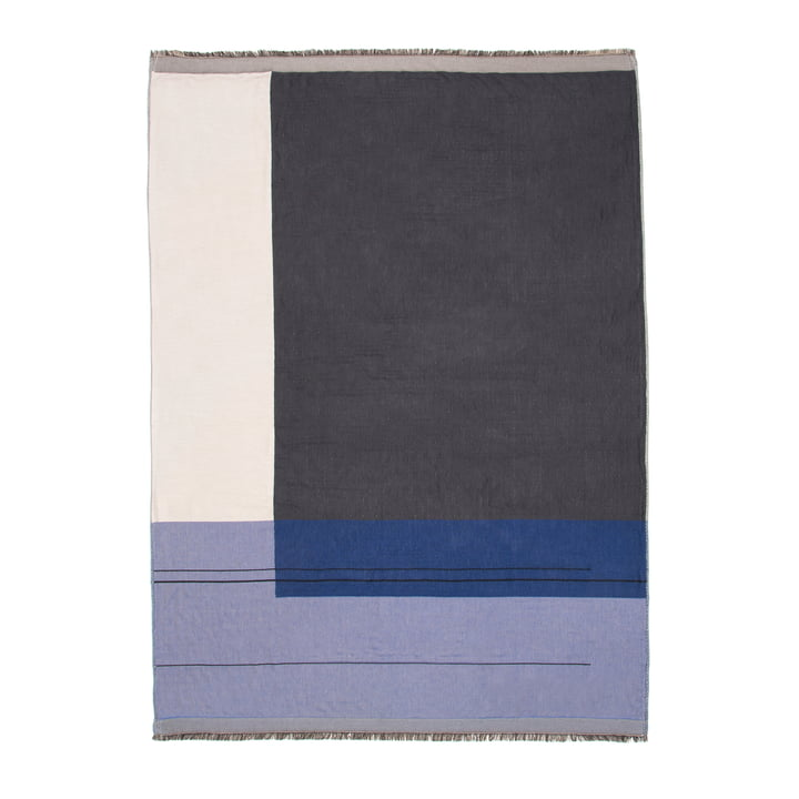 Colour Block Throw by ferm Living in blue
