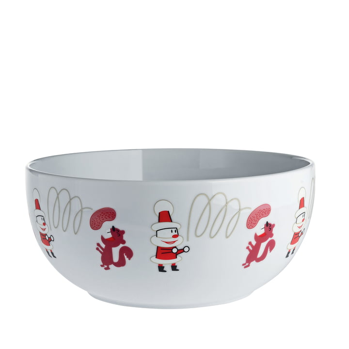 """Get Nuts!"" Fruit Bowl by A die Alessi in White"