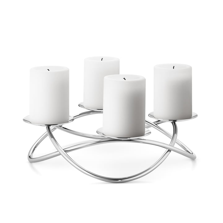 Large Season Candleholder by Georg Jensen out of stainless steel