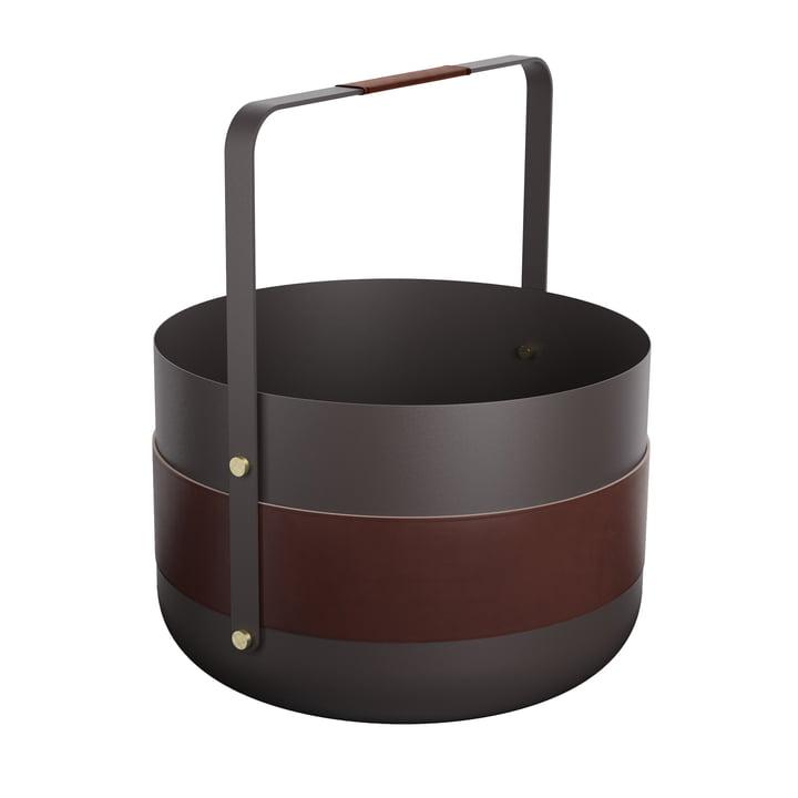 Wood Basket Emma Havane by Eldvarm in black / brown