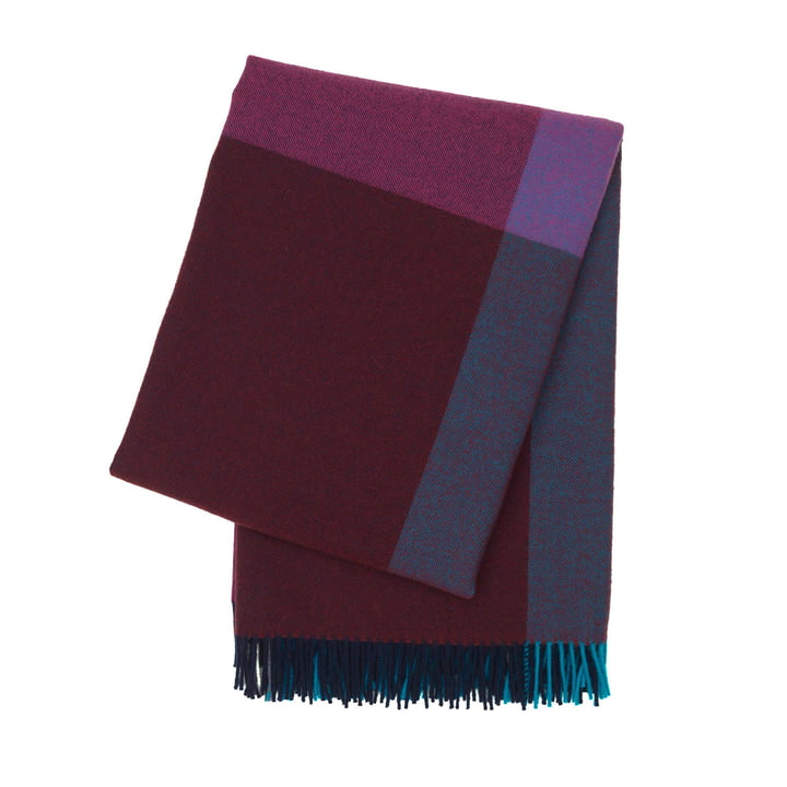 Colour Block Blanket by Vitra in Bordeaux and Blue