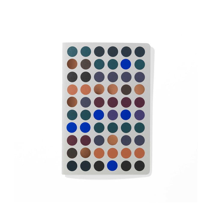 Dot Notebook A6 by Vitra in dark colour shades