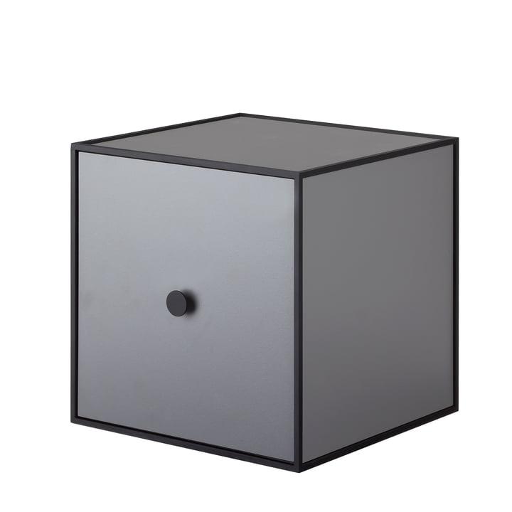 Frame wall cabinet 28 (incl. door) by Lassen in dark grey