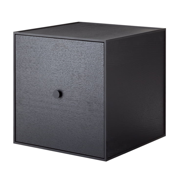 Frame Wall cabinet 35 (incl. door) from by Lassen in black ash