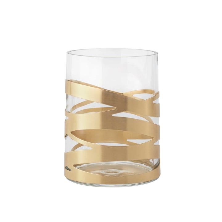 The Tangle Vase from Stelton , 16,5 cm, medium, brass