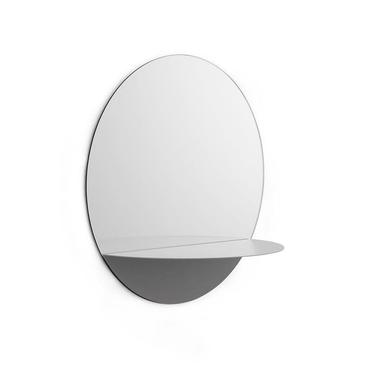 Horizon Mirror round by Normann Copenhagen in Grey