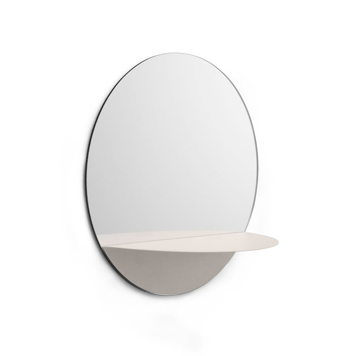 Horizon Mirror round by Normann Copenhagen in White
