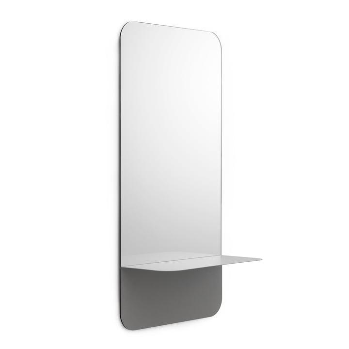 Horizon Mirror vertical by Normann Copenhagen in Grey