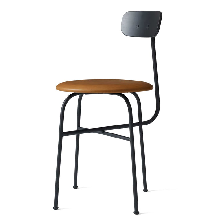 Afteroom Dining Chair 4 by Menu in black / Leather Cognac
