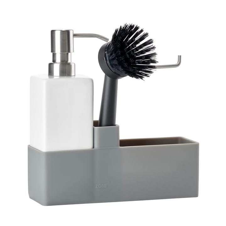 Dishwashing set (3 pcs.) from Zone Denmark in grey