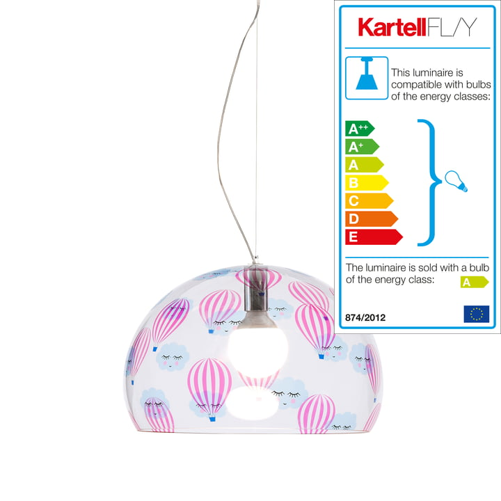 FL/Y Kids Lamp Small by Kartell in transparent / balloon