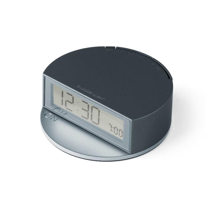Fine Clock by Lexon in Blue / Grey