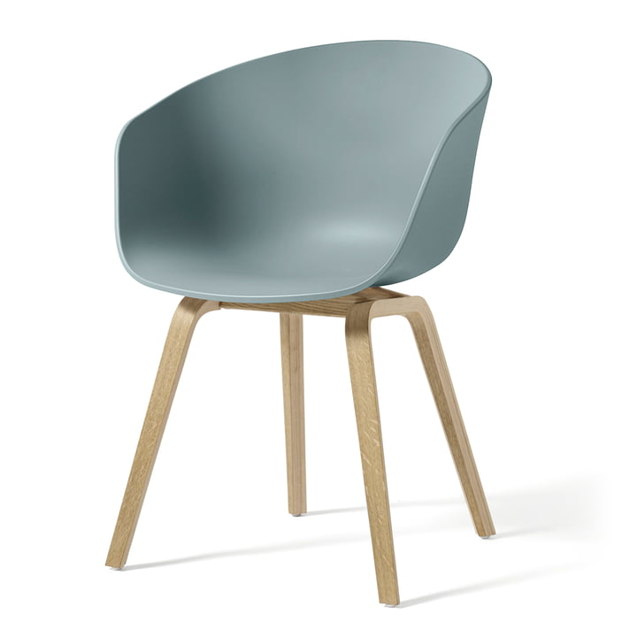 About A Chair AAC 22 by Hay in soaped oak / dusty blue