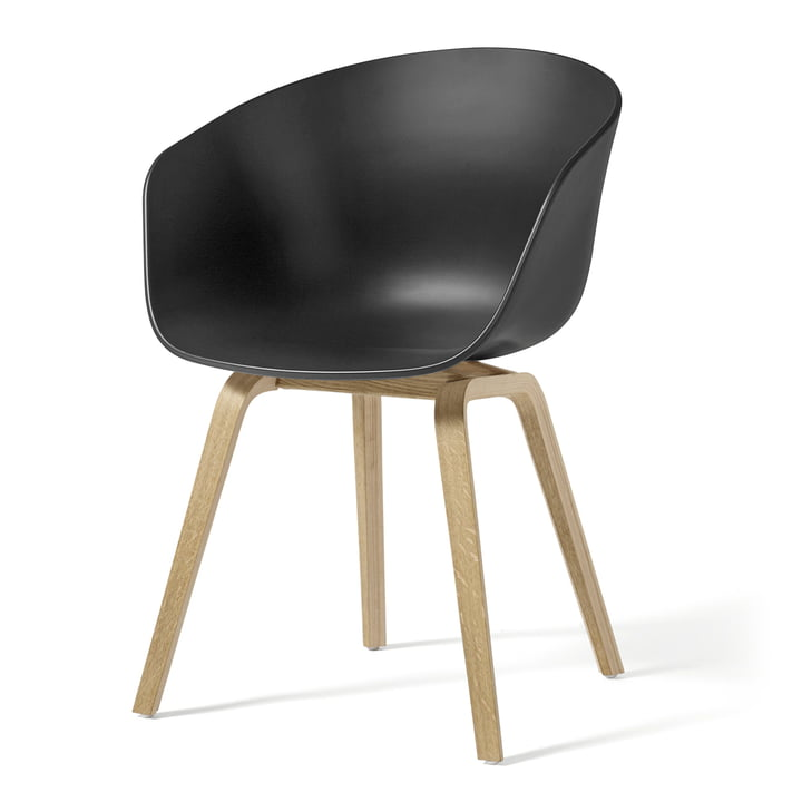 About A Chair AAC 22 by Hay in soaped oak / soft black