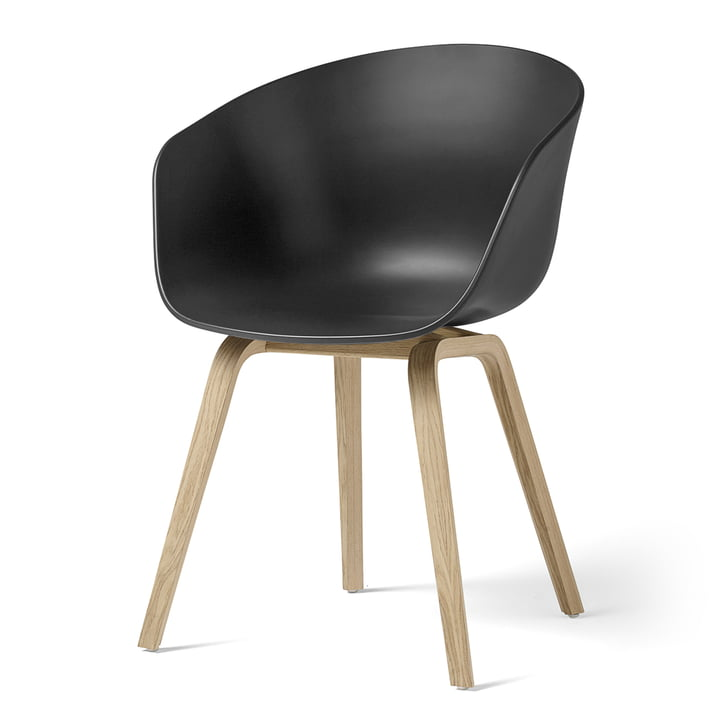 About A Chair AAC 22 by Hay in matt lacquered oak / soft black