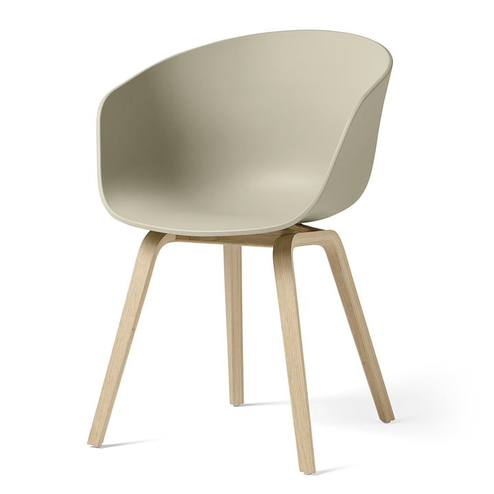 About A Chair AAC 22 by Hay in oak matt lacquered / pastel green