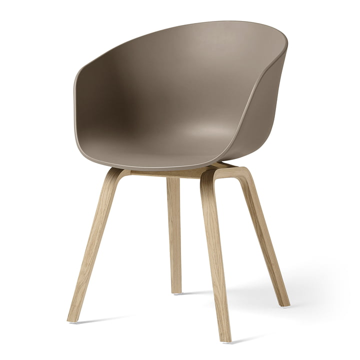 About A Chair AAC 22 by Hay in matt lacquered oak / khaki