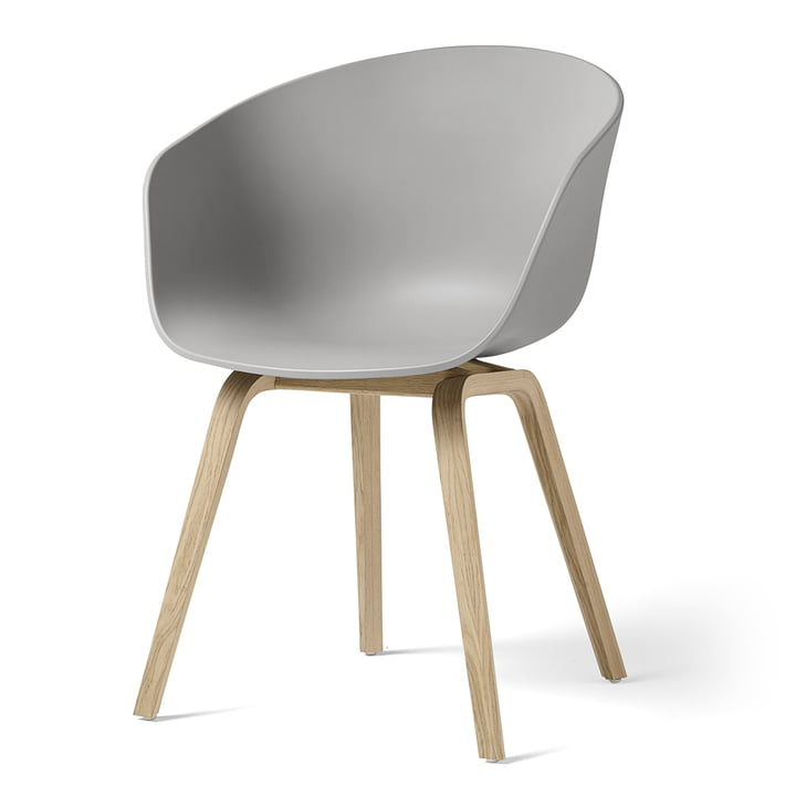About A Chair AAC 22 by Hay in matt lacquered oak / concrete gray