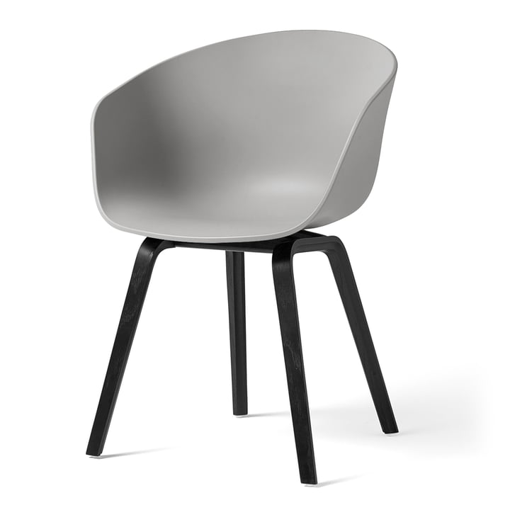 About A Chair AAC 22 by Hay in black stained oak / concrete gray
