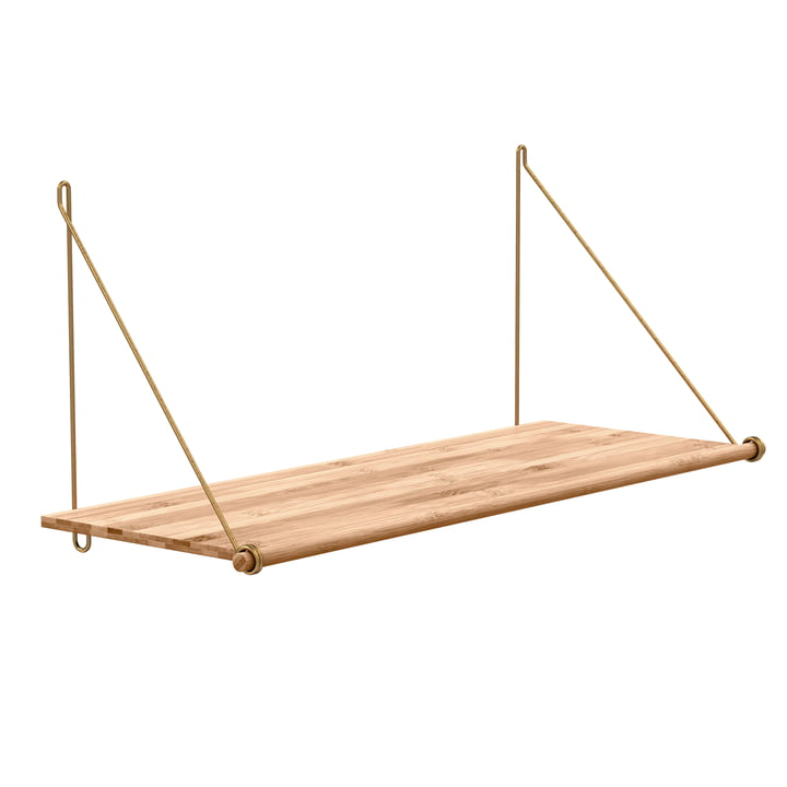 Loop Shelf by We Do Wood out of Bamboo and Brass