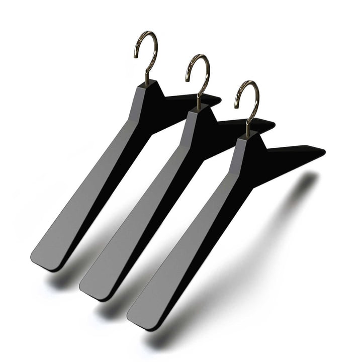 Frost - Unu Hanger 4, (set of 3), black / polished