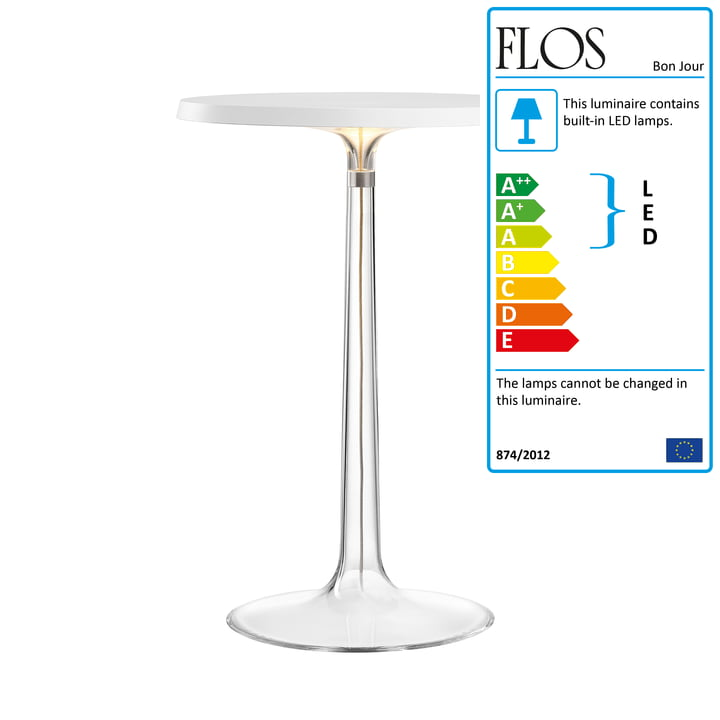 The Bon Jour Table Lamp by Flos in White