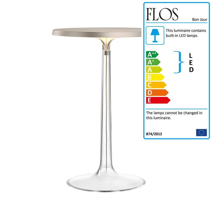 Flos - Bon Jour Table Lamp, chrome matt