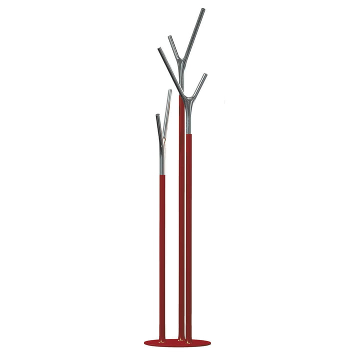 Frost - Wishbone Coat Stand, red /polished