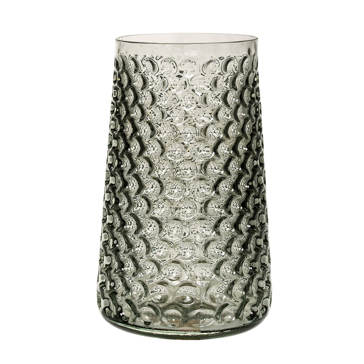 The Bloomingville Glass Vase in smokey grey